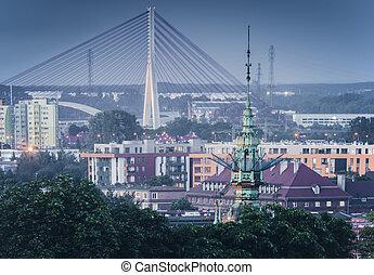 terceiro, milênio, john, paul, ii, ponte, em, gdansk