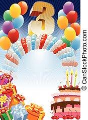 tercero, cumpleaños