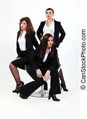 tercet, dynamiczny, businesswomen