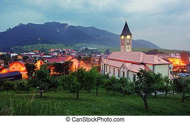 Terchova village at dusk - Slovakia