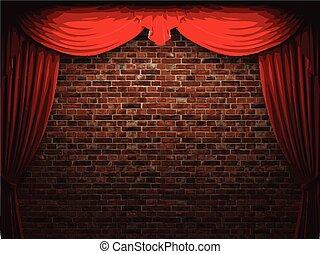 terciopelo, pared, vector, plano de fondo, cortina, stome