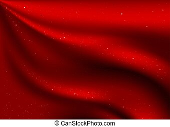 terciopelo, rojo, estrellas