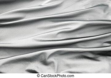 terciopelo, tela, pliegues, pedazo, suave, plata