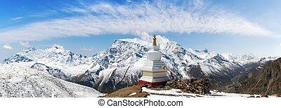 teren górzysty, buddysta, stupa, annapurna