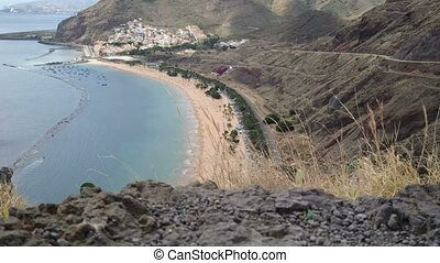 Teresitas beach, in Tenerife
