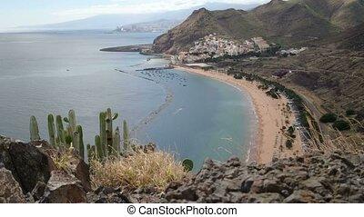 Teresitas beach, in Tenerife