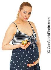 terhes nő, birtok, falánk part
