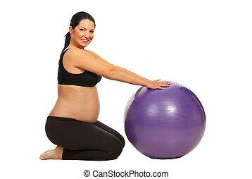 terhes nő, tréning
