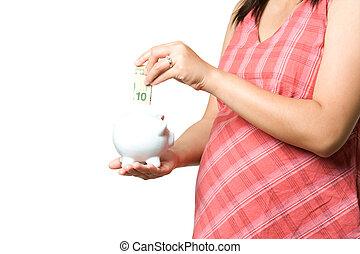 terhes, pénz