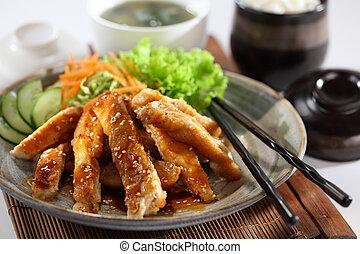 Teriyaki Chicken. One of the best Japanese chicken dishes