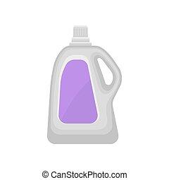 termék, mosoda, palack, folyékony, háztartás, ábra, műanyag, kémiai, vektor, mosópor, háttér, konténer, fehér, takarítás