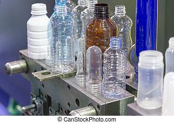 termék, palack, műanyag