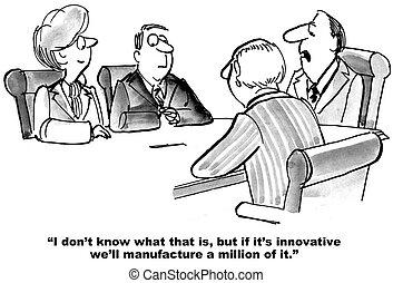 termékek, gyártás, újító