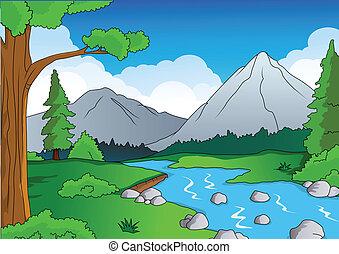 természet, erdő, háttér