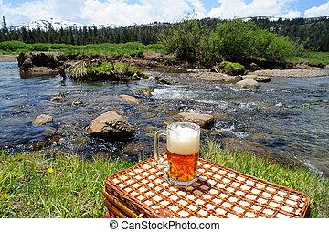 természet, világos sör