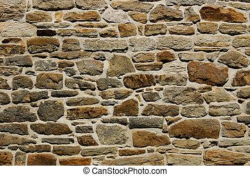 természetes, kőfal, struktúra, /, backgr