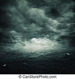természetes, viharos, elvont, háttér, tervezés, óceán, -e
