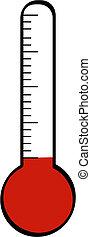 termómetro, con, bajo, temperatura