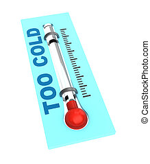 termômetro, com, gelado, temperatura