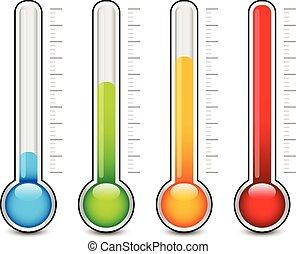 termômetro, gráficos