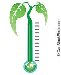 termômetro, planta