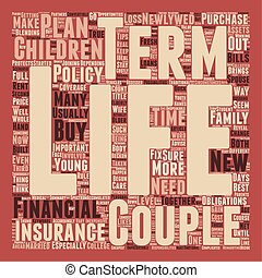 Term Life Insurance For Newlyweds text background wordcloud concept