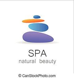 terme, bellezza naturale, sagoma, logotipo