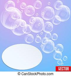 terme, bolle, aqua, sapone, fondo