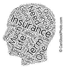 terme, concept, beaucoup, texte, vie, devez, comment, wordcloud, achat, fond, assurance
