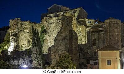Terme di Caracalla in beautiful town of Albano Laziale night...