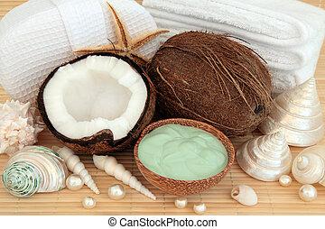 terme, noce di cocco, massaggio