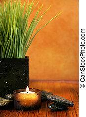 terme, regolazione, con, candela