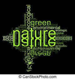 termes, aimer, natur, illustration, environnement, ou