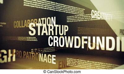 termes, crowdfunding, apparenté