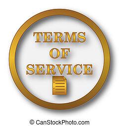 termes, service, icône