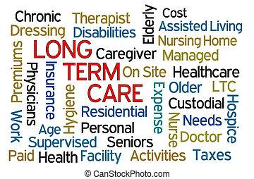 termijn, lang, care