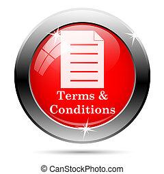termijnen, condities, pictogram
