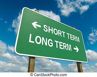 termin, krótki, długi