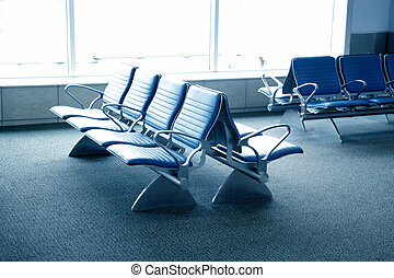 terminal, aéroport, -, allocation places