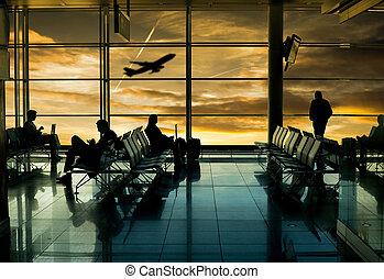 terminal, aéroport