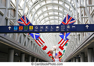 terminal, aéroport international