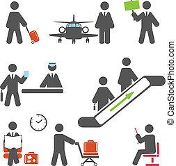 terminal, air, icônes