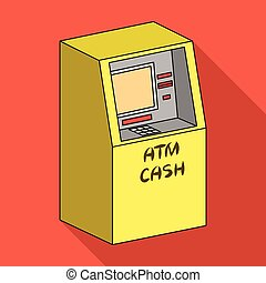 Terminal, ATM for receiving cash. Terminals single icon in flat style isometric vector symbol stock illustration web.