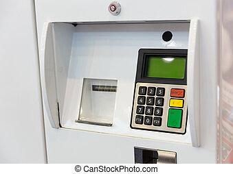 terminal, bensin, betalning