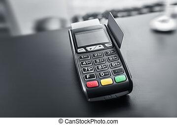 terminal, betaling, bank, card.