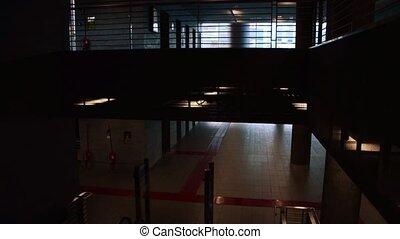 terminal exit by escalator