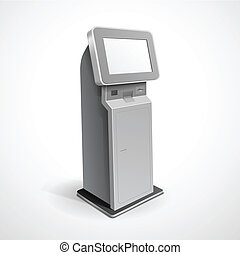terminal, information, moniteur, stand, exposer