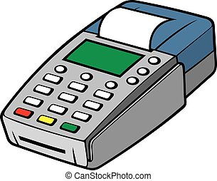terminal, kredyt, -, pos, karta