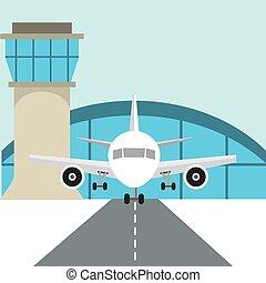terminal, lotnisko, projektować