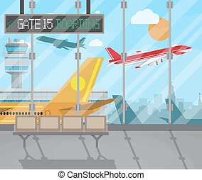terminal, lotnisko, tło